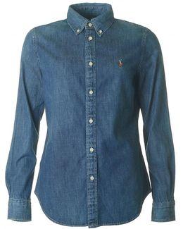 Button Down Harper Denim Shirt