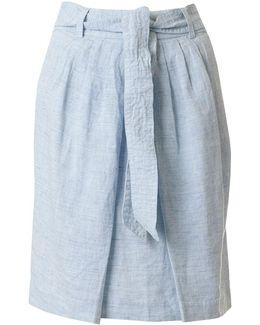 Jada Chambray Tie Waist Skirt
