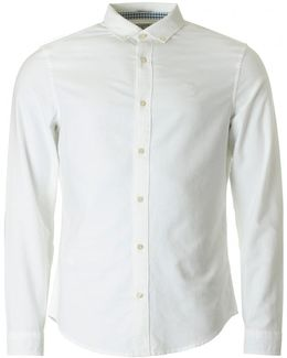 Straight Up Long Sleeved Oxford Shirt