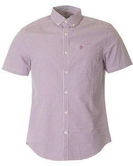 Bellon Short Sleeved Gingham Shirt