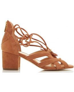 Mirabel Mid Heel Suede Strappy Shoes