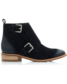 Adams Monk Straps Suede Booties