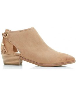 Jennings Suede Flat Booties