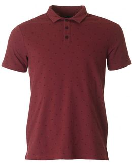 All Over Logo Short Sleeved Polo
