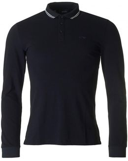 Tipped Slim Fit Long Sleeved Polo