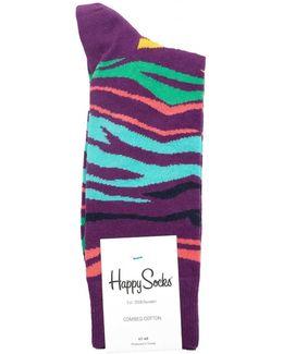 Multi Zebra Socks