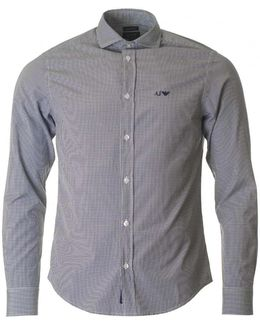 Custom Fit Long Sleeved Gingham Shirt
