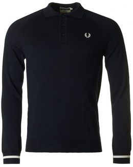 Long Sleeved Knitted Cuff Polo