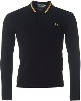 Long Sleeved Tipped Polo