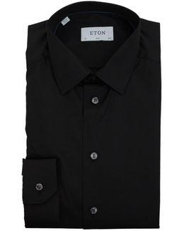 Sateen Poplin Small Collared Shirt