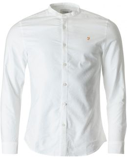 Brewer Grandad Collar Slim Oxford Shirt