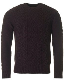 Barnard Cable Knit Crew Neck Knit