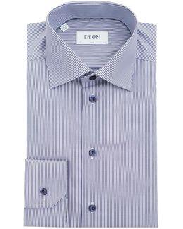 Bengal Striped Contrast Button Shirt