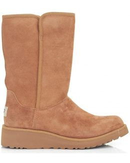 Amie Soft Suede Wedged Mid Boots