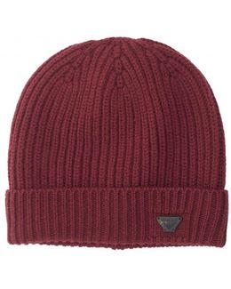 Fold Over Knitted Beanie Hat