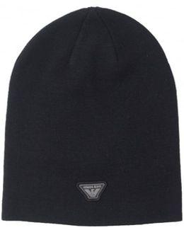 Aj Badge Logo Beanie Hat