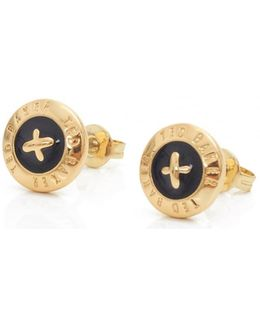 Eisley Enamel Mini Button Earrings