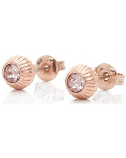 Aubree Plisse Crystal Ball Earrings