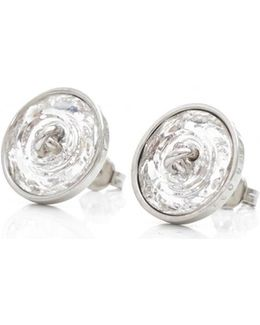 Aubree Plisse Crystal Ball Stud Earrings