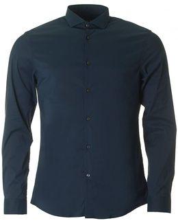 Slim Cotton Nylon Stretch Shirt