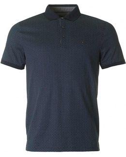 Dot Diamond Print Polo Shirt