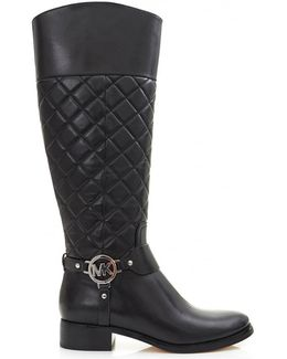 Fulton Quilted Leather Harness Boots