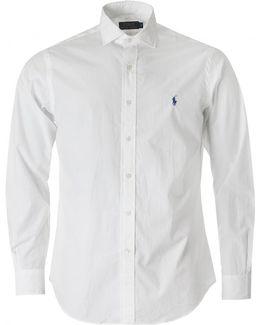 Custom Fit Spread Collar Poplin Shirt