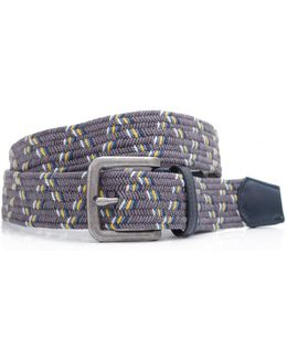 Pinnacle Multi Stripe Woven Belt