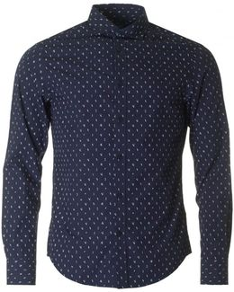 Slim Fit All Over Letter Shirt