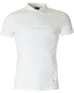 Faded Letter Short Sleeved Polo