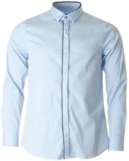 Long Sleeved Trim Plackett Shirt