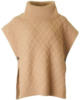Burdette Cable Knit Cape