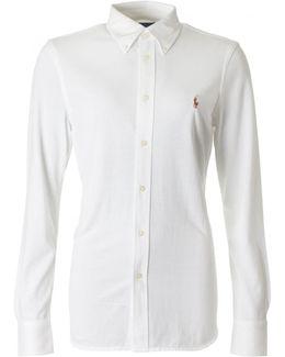 Heidi Pique Button Down Collar Shirt