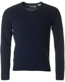 Hector V Neck Lambswool Knit