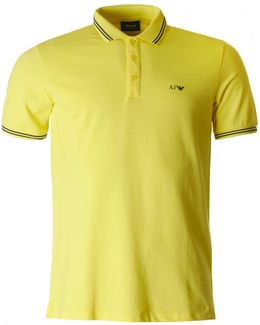 Short Sleeved Modern Fit Tipped Polo