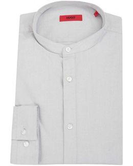 Edoug Grandad Collar Oxford Shirt