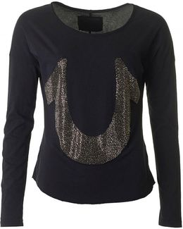 Relaxed Horseshoe Long Sleeved Top