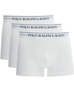 3 Pack Of Solid Boxer Shorts