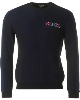 Crest Ribbed Crew Neck Knit