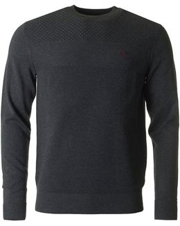 Texture Mix Crew Neck Knit
