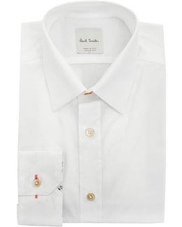 Slim Fit Poplin Floral Print Cuff Shirt