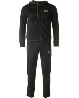 Train Tonal Poly Hooded Tracksuit