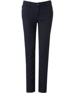 Hi Rise Slim Leg Cotton Stretch Jeans