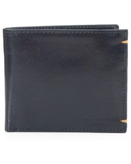 Aunat Contrast Leather Bilfold Wallet