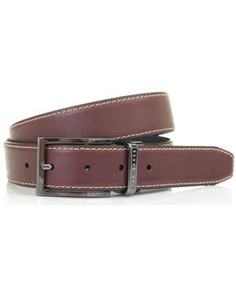 Lizard Leather Reversible Belt