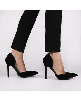 Keely High Heels In Black Faux Suede