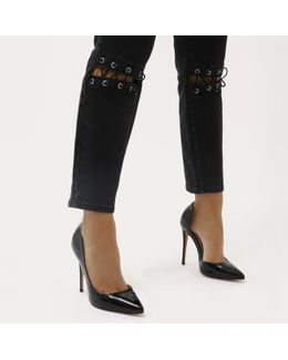 Represent Cut Out Stiletto Court Heels In Black