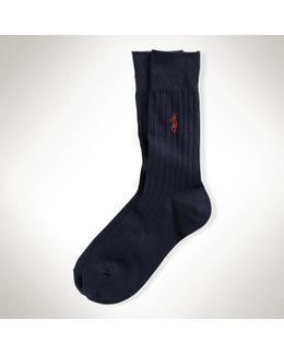 Ribbed Trouser Socks