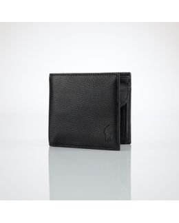 Coin-pocket Leather Wallet