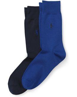 Flat-knit Sock 2-pack
